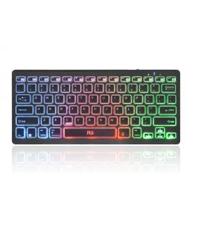 Rii Multimedia Bluetooth Keyboard with Rainbow Backlit