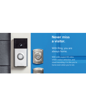 Ring - Wi-Fi Smart Video Doorbell - Satin Nickel