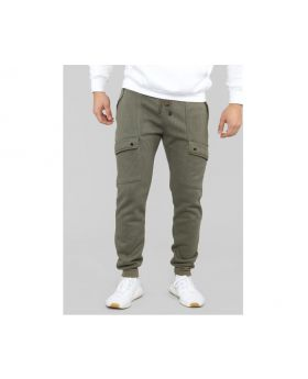 Ronald Cargo Sweat Pants Olive in Size Large