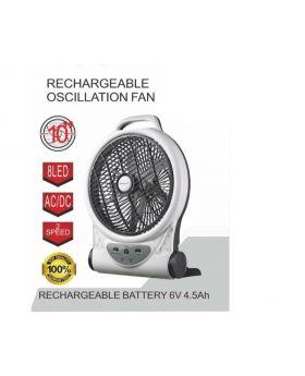 """Roshan RF-821 10"""" Rechargeable Oscillation Fan"""