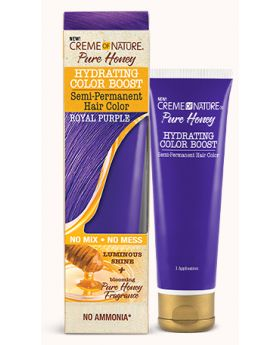 Pure Honey Hydrating Color Boost – Semi-Permanent Hair Color ROYAL PURPLE