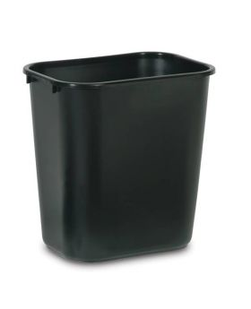 Rubbermaid 28.13 Qt Black Wastebasket
