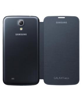 Rear view of the Samsung Galaxy Mega Black Flip Cover