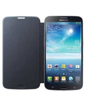 Samsung Galaxy Mega Black Flip Cover fully opened
