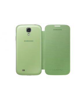 Front and back view of the Samsung Galaxy S4 Green Flip Cover