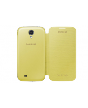Rear view of the Samsung Galaxy S4 Yellow Flip Cover