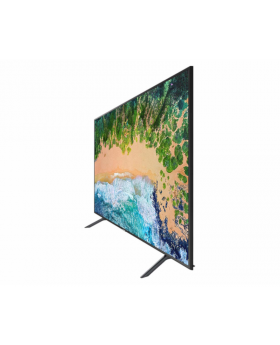 "Slanted view of the Samsung  75"" UHDTV 7 Series 75UK60 Smart TV"