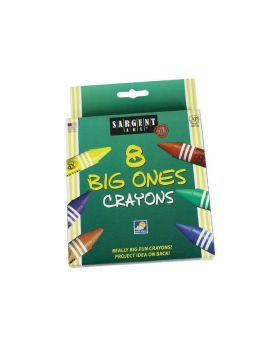 Sargent 220589 Jumbo Crayon 8 Count
