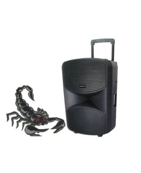 Sound Blast Dual 8 inches X 12 inches Powered Scorpion 2785 Watts