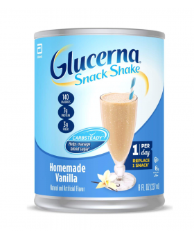 Glucerna Snack Shake, Vanila,  Diabetes Nutritional Shake 8 fl oz - 5 count