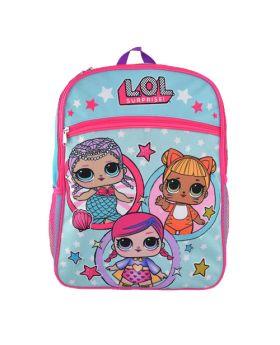 LOL Surprise! Backpack W' Front Pocket – 16″ Blue and Pink