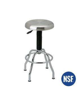 Seville Classics Home Stainless Steel Pneumatic Stool