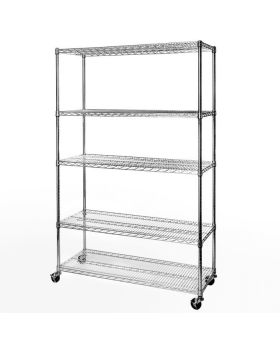 Seville Classics® 5-Tier UltraDurable® Commercial-Grade NSF Steel Wire Shelving System