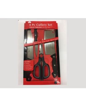 """Smart Cook 4 Piece Cutlery Set with 6"""" Cleaver"""