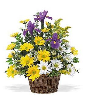 Smiling Spring Basket Floral Arrangement