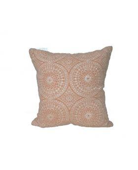 Peach Solar Throw Pillow