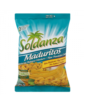 Soldanza Sweet Plantain Chips 12 Pack
