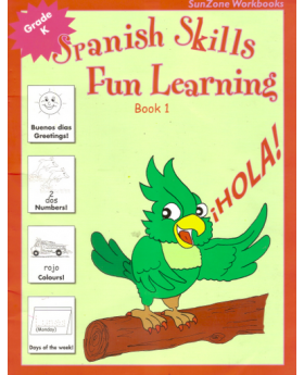 SunZone Workbooks Spanish Skills Fun Learning Book 1 Grade K