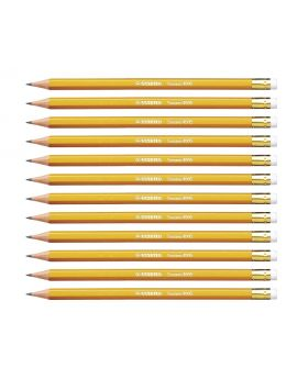 Stabilo Swano HB Pencils with Eraser 12 Pack