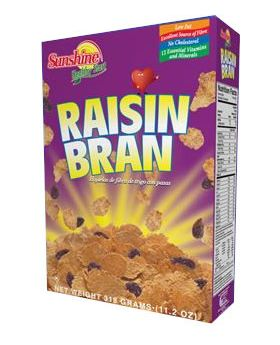 Sunshine Raisin Bran 420g