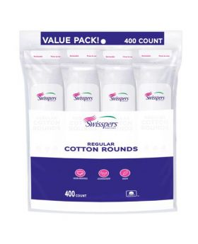 Swisspers Premium Cotton Rounds 4 x 100 Count