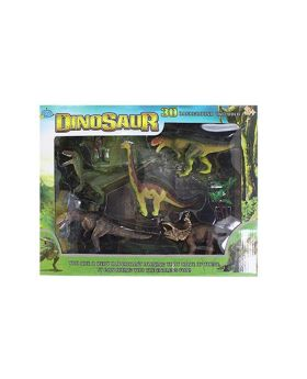 Dinosaur with 3D Background Set