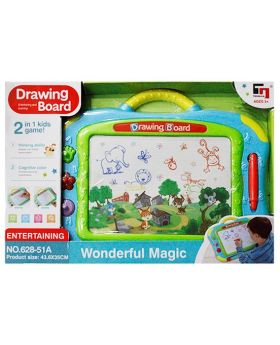 2-in-1 Magnetic Drawing Board