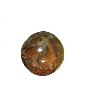 Teak root decorative ball