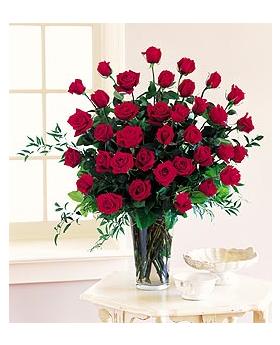 Three Dozen Red Roses Floral Arrangement