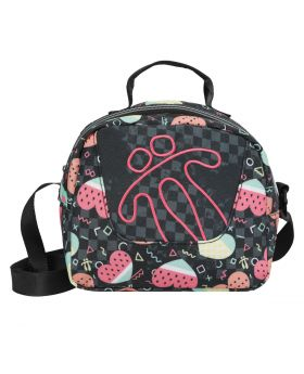 Totto Girl's Lunch Bag Black Watermelon Hearts