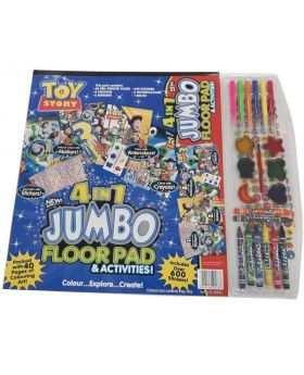 Toy Story 4 In 1 Jumbo Floor Pad Coloring Book