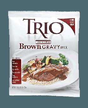 Trio Low Sodium Brown Gravy Mix 8 x 16 ounces