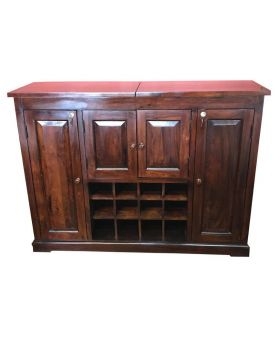 Tuscany Sliding Top Bar In a Rich Wooden Finish