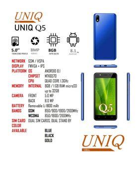 Uniq Q5 Dual Sim Unlocked Smartphone