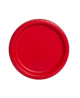 Unique Round Plate 9-Inch Size, Ruby Red