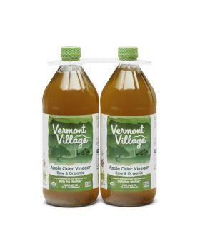 Vermont Village Apple Cider Vinegar Raw & Organic 32 Oz. 2 Pack