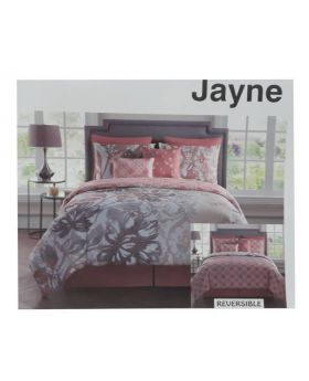 Victoria Classics Jayne Reversible 8pc Comforter Set King - Coral