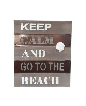 Wall Art - Keep Calm And Go To The Beach
