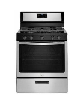 Whirlpool Gas Stove in Stainless Steel