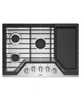 Whirlpool WCG97USOHS 30-inch Gas Cooktop with Griddle