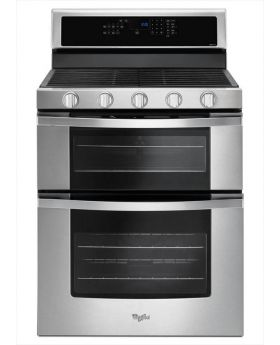 Whirlpool WGG745S0FS 6.0 Cu.Ft. Double Oven Gas Range with Center Oval Burner in Stainless Steel