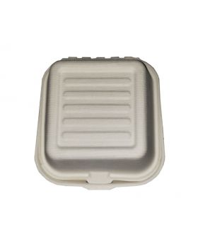 6X6 Biodegradable (Hamburger) Food Box Closed