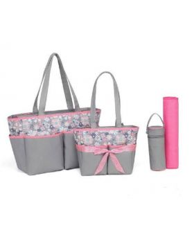 Wonder Baby 5 Piece Diaper Bag Peach Flowers