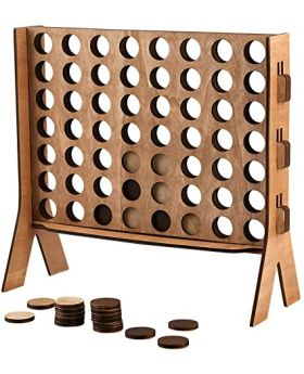 Wooden Tabletop 4 in-a-row Game