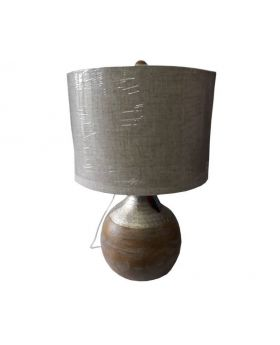 Wooden Base Electric Accent Lamp