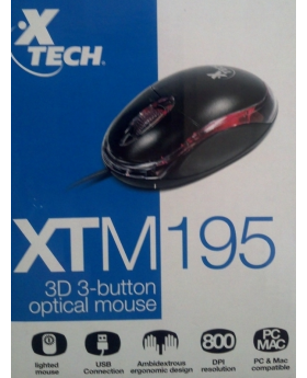 Xtech - XTM-195 Mouse - Wired