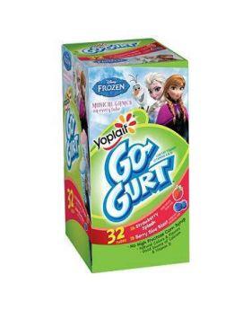 Yoplait Go-Gurt Strawberry/Berry Yogurt, 32ct