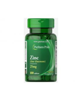 Zinc Supplements 25 mg or 50 mg 100 tablets