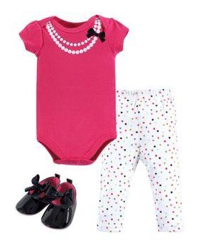 Fuchsia Party Pearls Bodysuit Set - Infant Little Treasure