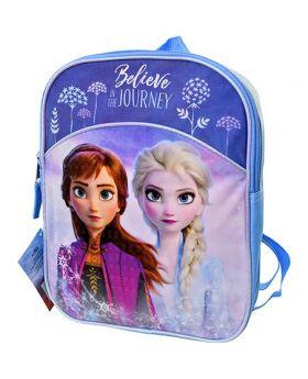 """Frozen Blue & Purple 11"""" 'Believe In The Journey' Backpack"""